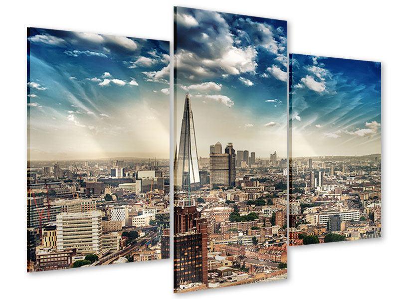 Acrylglasbild 3-teilig modern Skyline Über den Dächern von London