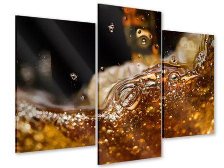 Acrylglasbild 3-teilig modern Cognac