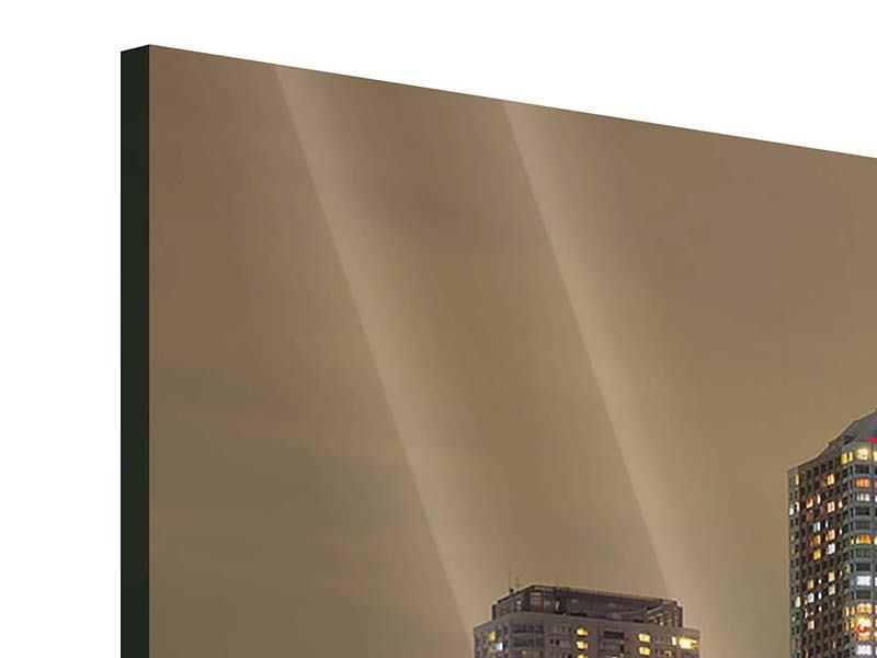 Acrylglasbild 3-teilig modern Skyline Tokio in der Nacht