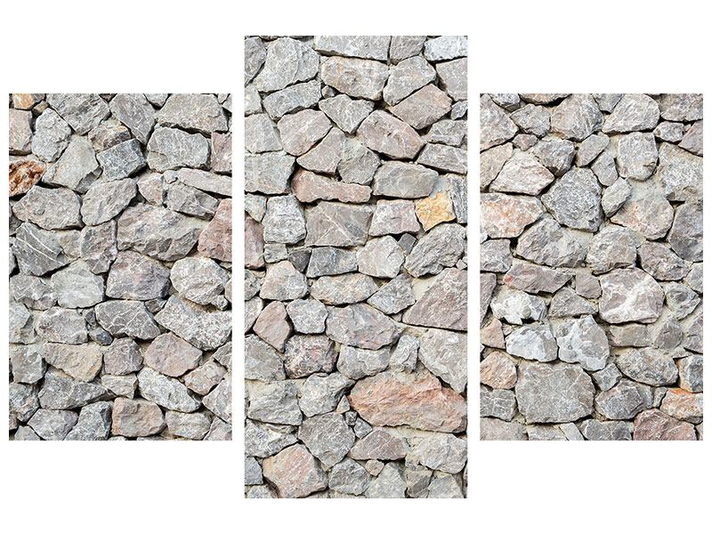 Acrylglasbild 3-teilig modern Grunge-Stil Mauer