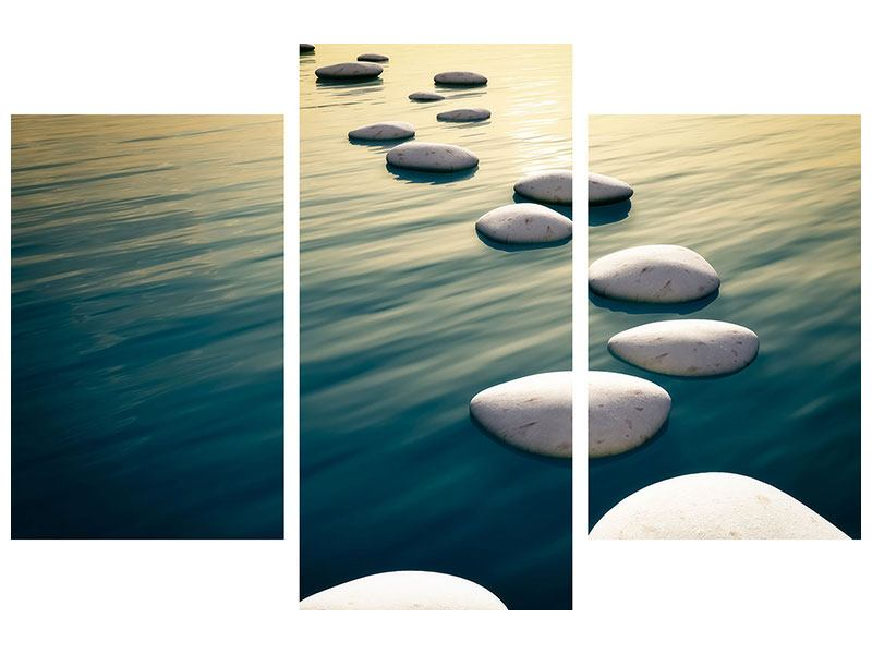 Acrylglasbild 3-teilig modern Der Weg ist das Ziel