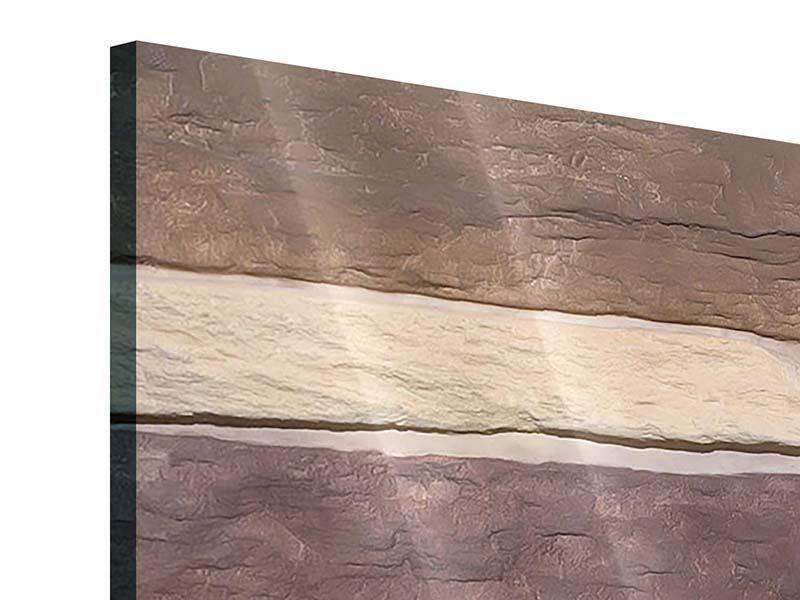 Acrylglasbild 3-teilig modern Designer-Mauer