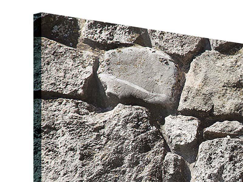 Acrylglasbild 3-teilig modern Grosses Mauerwerk