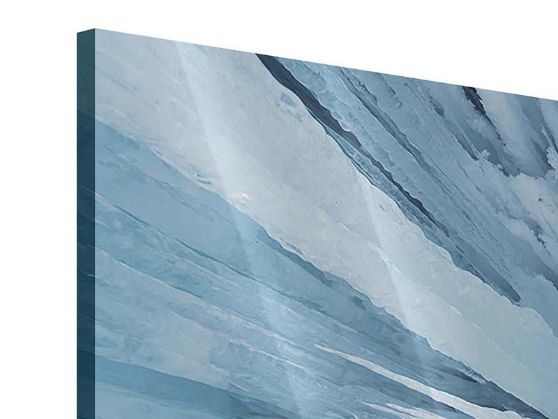 Acrylglasbild 3-teilig modern Eiskunst