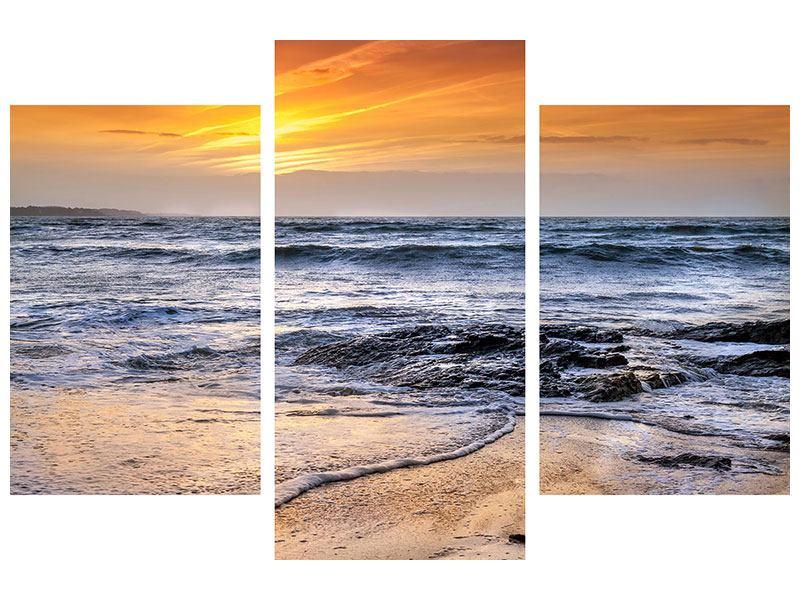 Acrylglasbild 3-teilig modern Das Meer