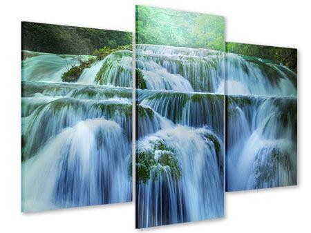 Acrylglasbild 3-teilig modern Gigantischer Wasserfall