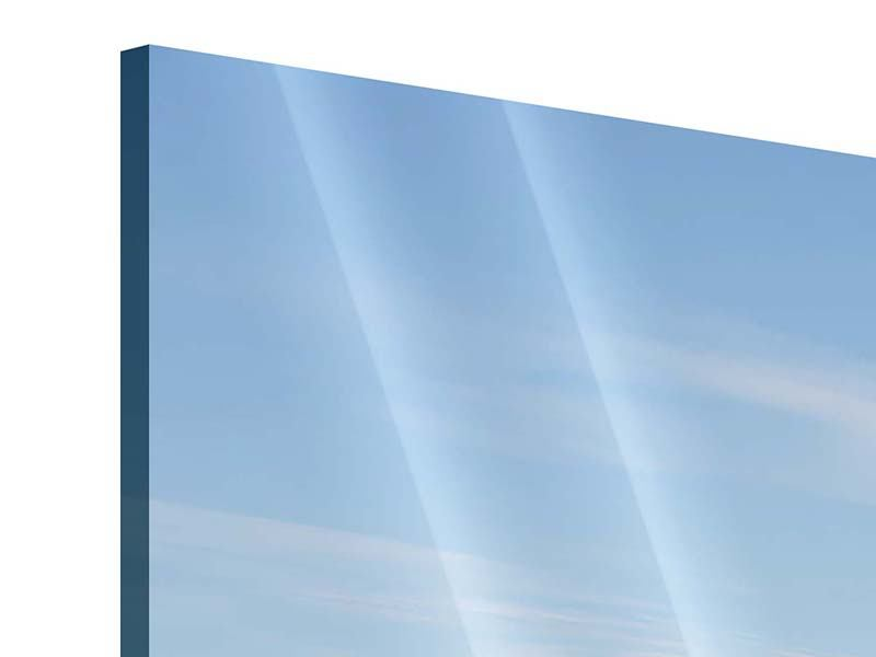 Acrylglasbild 3-teilig modern Hafenmauern