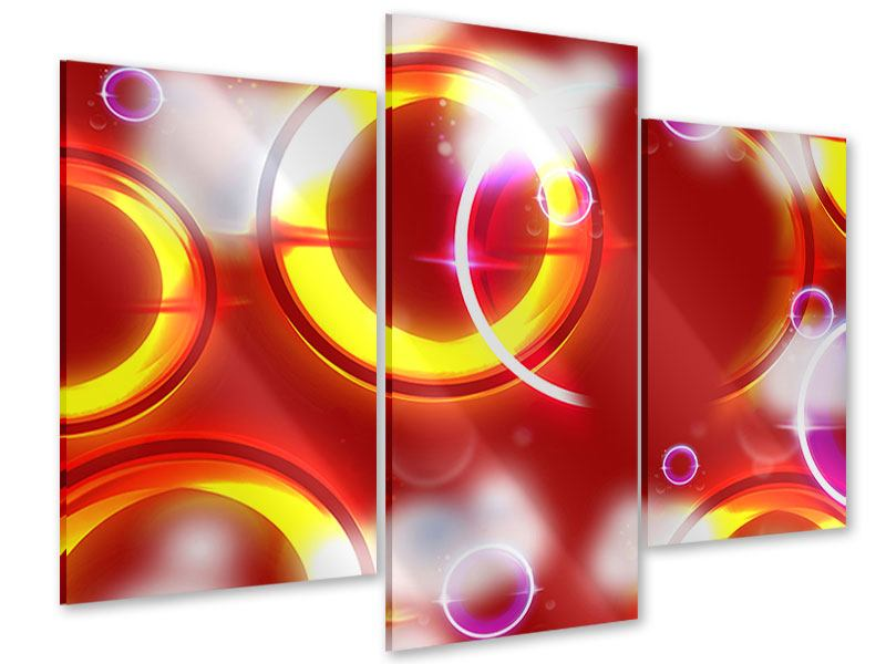 Acrylglasbild 3-teilig modern Abstraktes Retro