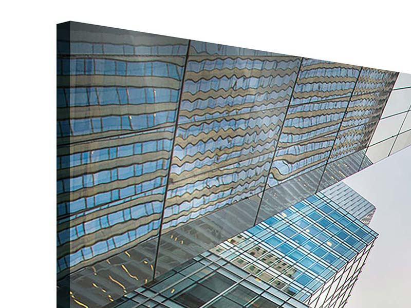 Acrylglasbild 4-teilig modern Hochhäuser