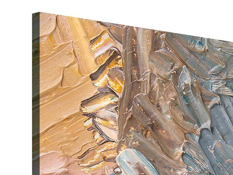 Acrylglasbild 4-teilig modern Ölgemälde