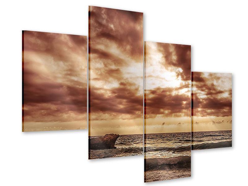 Acrylglasbild 4-teilig modern Meeresrauschen