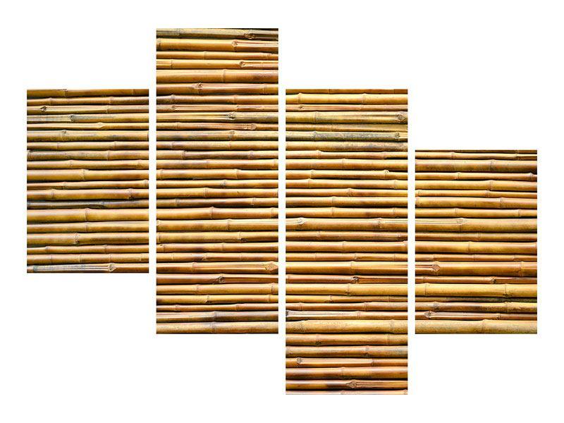 Acrylglasbild 4-teilig modern Bambus