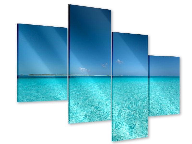 Acrylglasbild 4-teilig modern Das Meer und Jules Verne