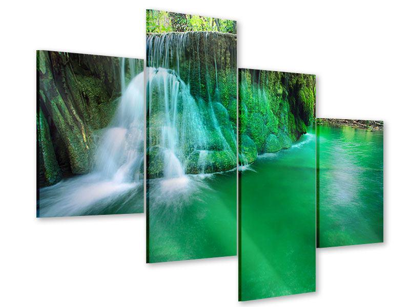 Acrylglasbild 4-teilig modern Im Paradies
