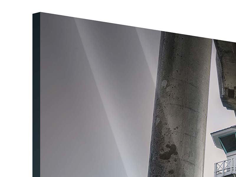 Acrylglasbild 4-teilig modern Brückenpfeiler