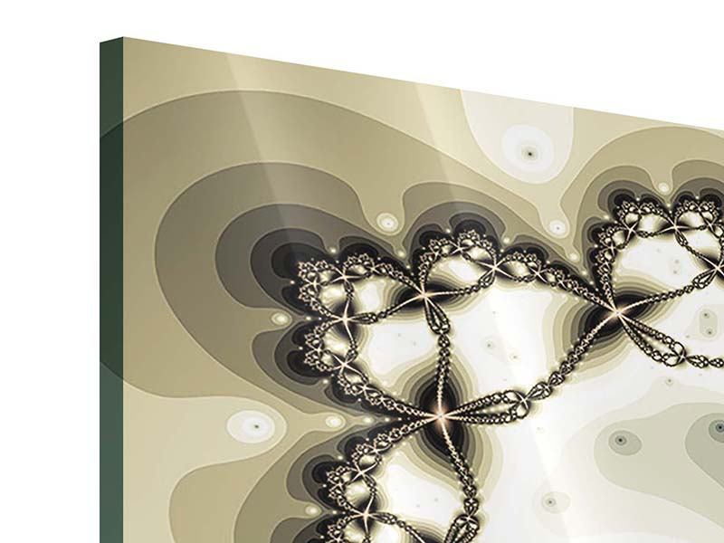 Acrylglasbild 4-teilig modern Abstrakter Schmetterling