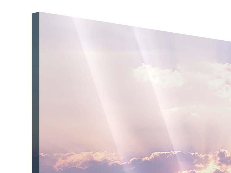 Acrylglasbild 4-teilig modern Sonnenaufgang am Meer