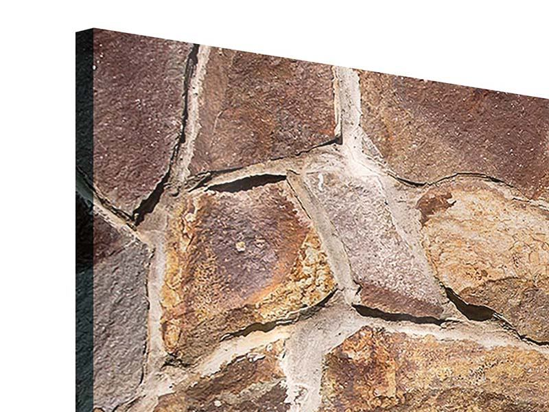 Acrylglasbild 4-teilig modern Designmauer