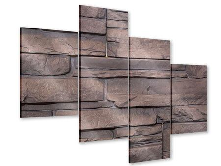 Acrylglasbild 4-teilig modern Luxusmauer