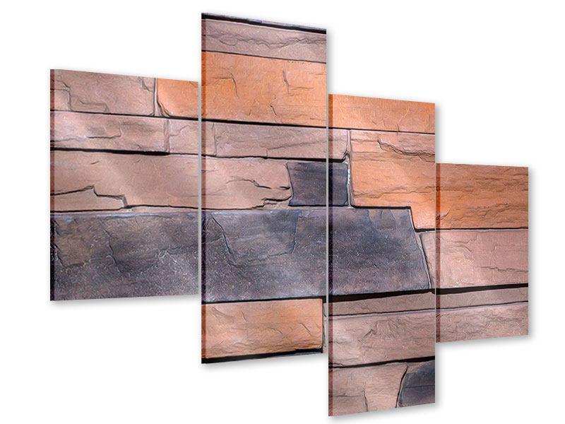 Acrylglasbild 4-teilig modern Wall