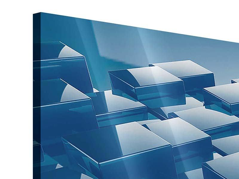 Acrylglasbild 4-teilig modern 3D-Cubes