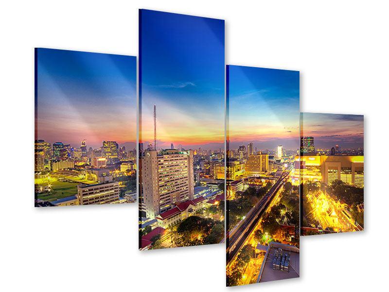 Acrylglasbild 4-teilig modern Bangkok