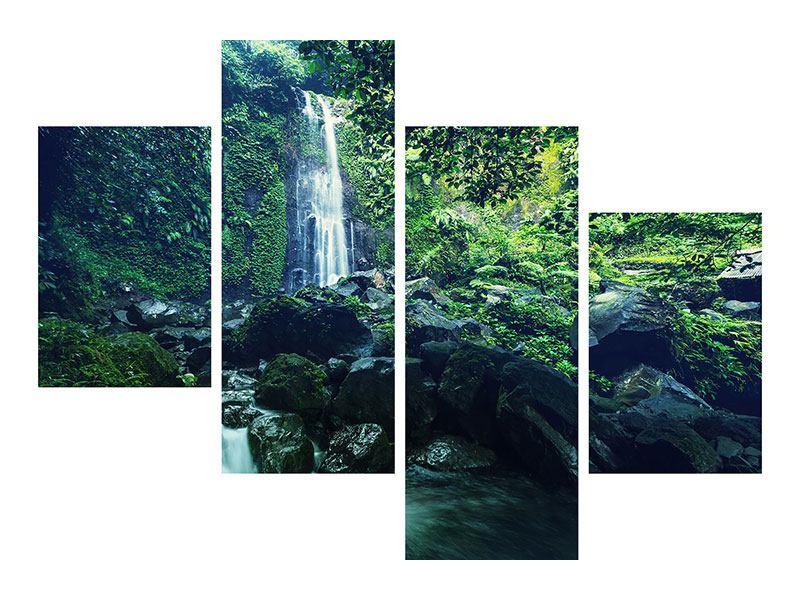 Acrylglasbild 4-teilig modern Natur