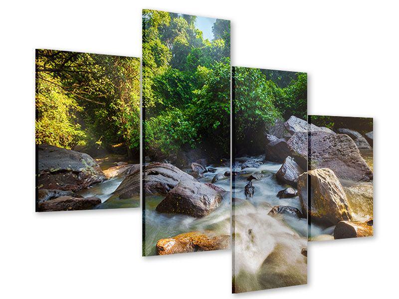 Acrylglasbild 4-teilig modern Das Gewässer