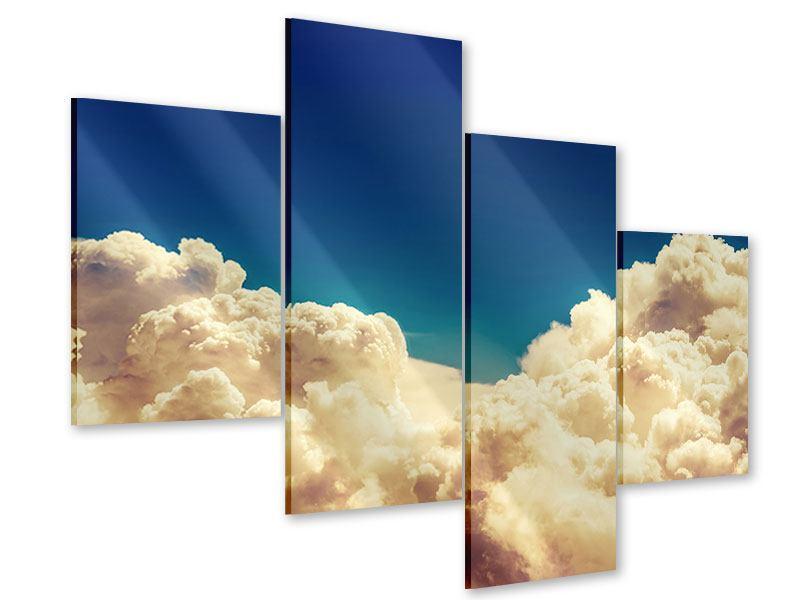 Acrylglasbild 4-teilig modern Himmelswolken