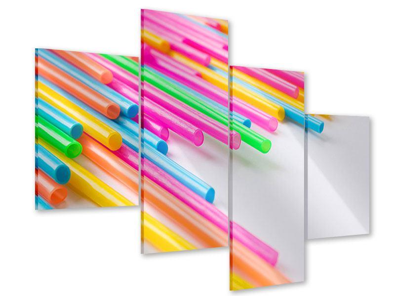 Acrylglasbild 4-teilig modern Pop Art