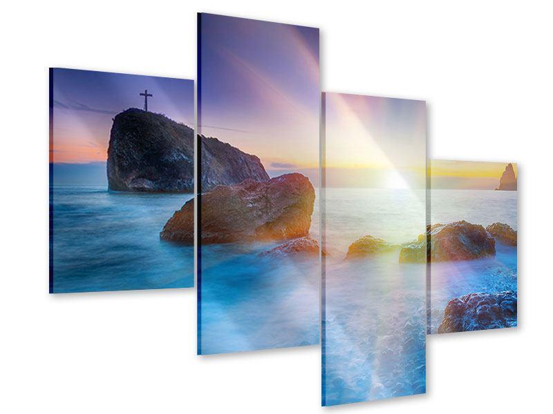 Acrylglasbild 4-teilig modern Mystisches Meer