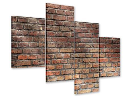 Acrylglasbild 4-teilig modern Brick Wall