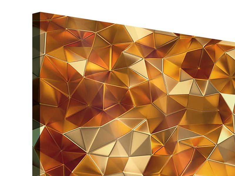 Acrylglasbild 4-teilig modern 3D-Bernsteine