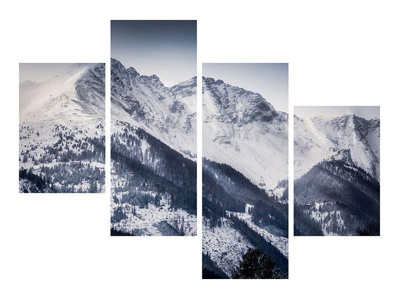 Acrylglasbild 4-teilig modern Die Berge der Schweiz