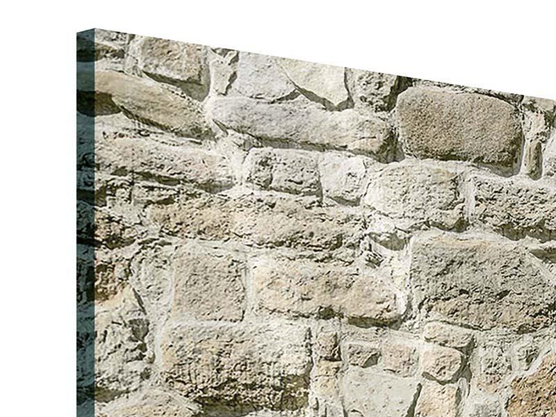 Acrylglasbild 4-teilig modern Naturmauer