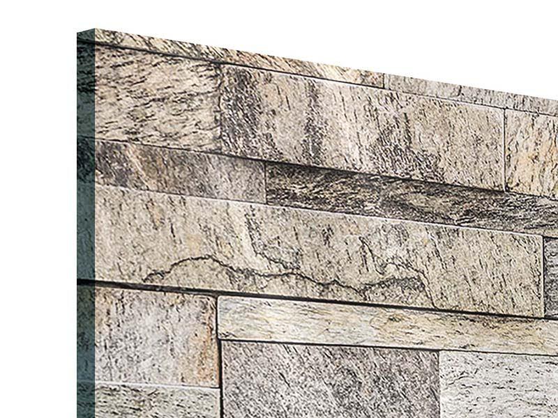 Acrylglasbild 4-teilig modern Elegante Steinmauer
