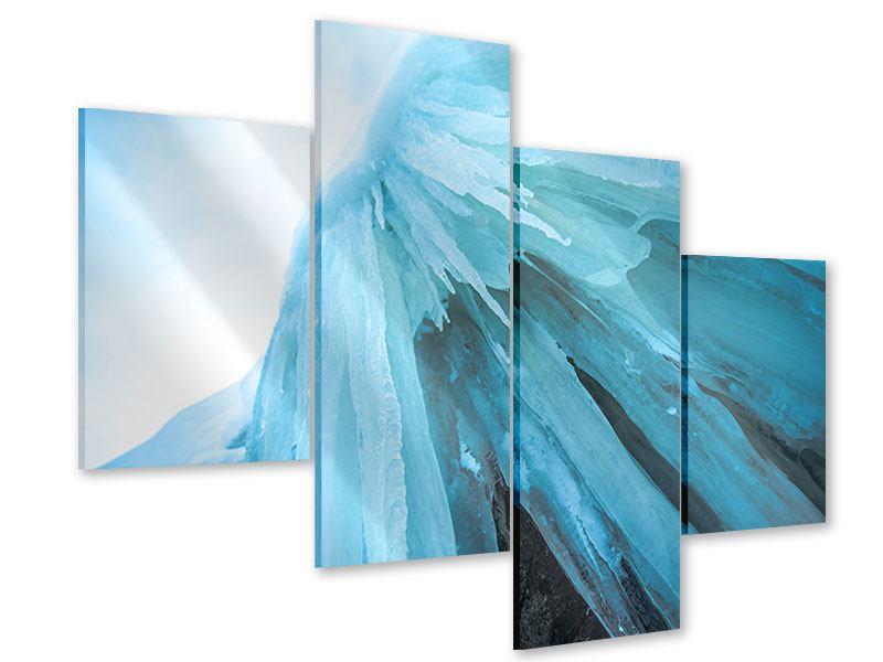 Acrylglasbild 4-teilig modern Die Eiswand