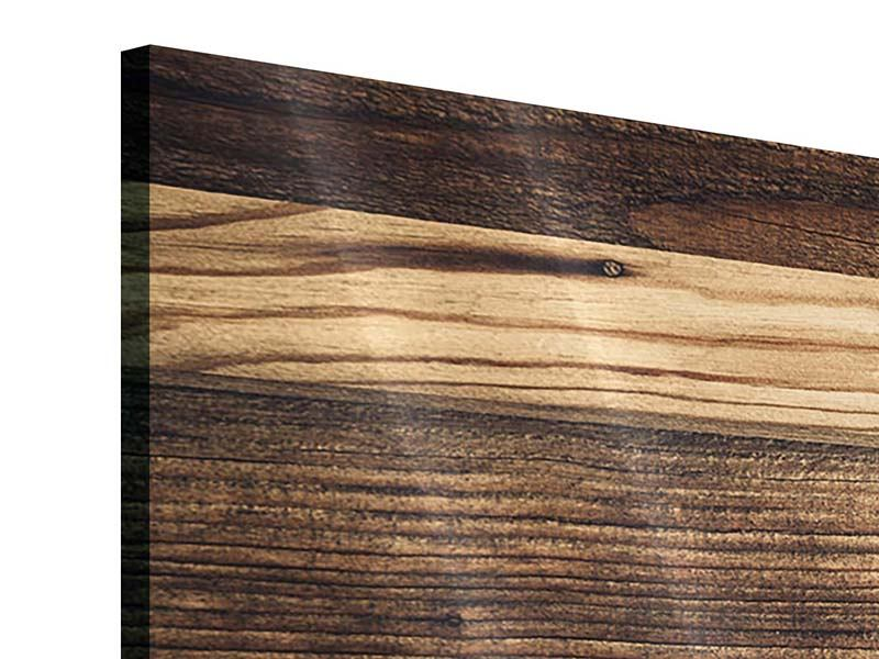 Acrylglasbild 4-teilig modern Holztrend