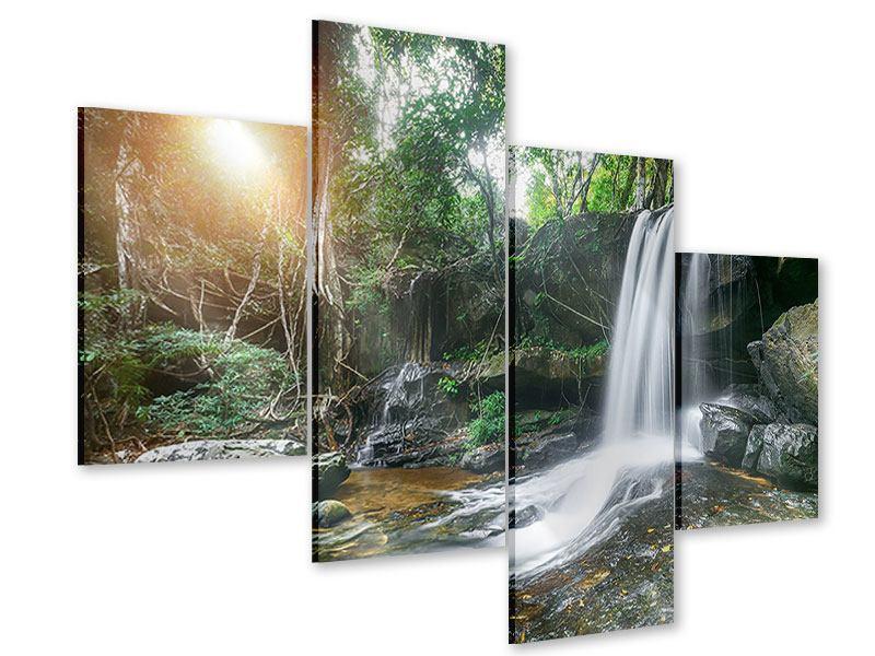 Acrylglasbild 4-teilig modern Naturschauspiel