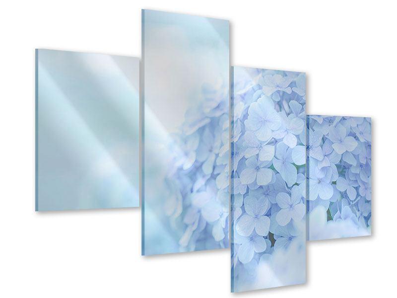Acrylglasbild 4-teilig modern Die Hortensie