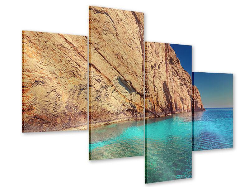 Acrylglasbild 4-teilig modern Wasser