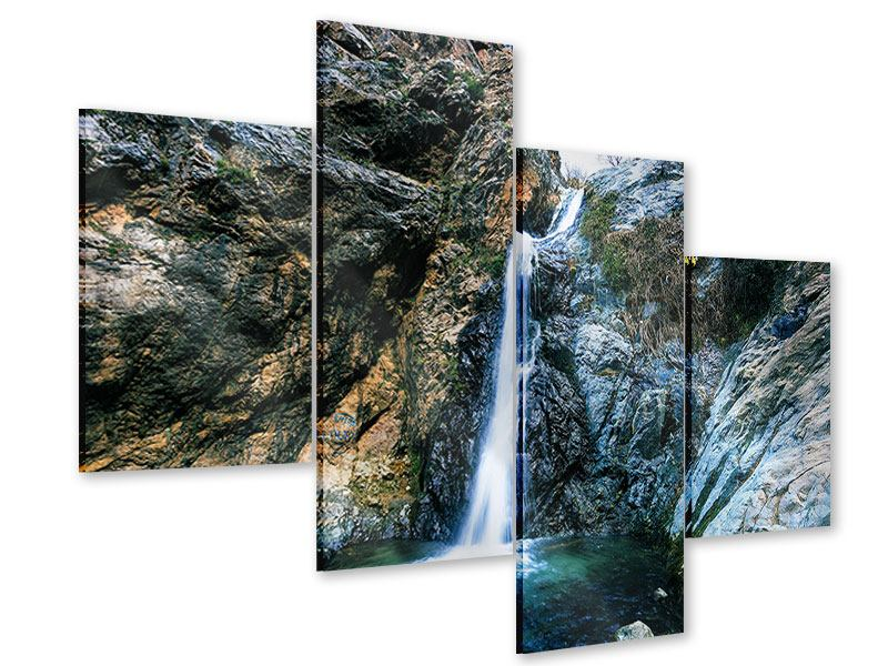Acrylglasbild 4-teilig modern Bewegtes Wasser