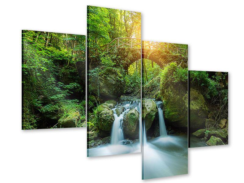 Acrylglasbild 4-teilig modern Wasserspiegelungen