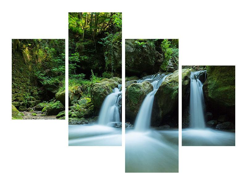 Acrylglasbild 4-teilig modern Fallendes Wasser
