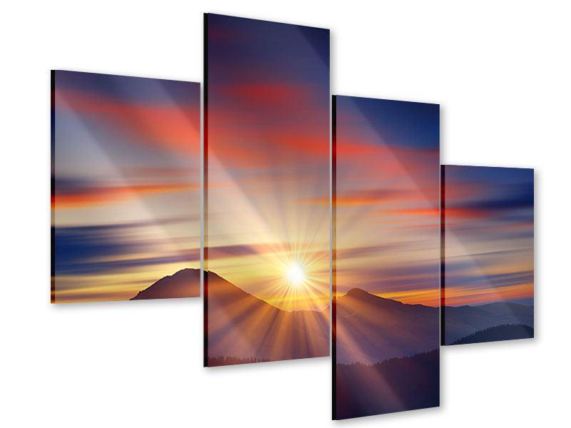 Acrylglasbild 4-teilig modern Märchenhafte Landschaft