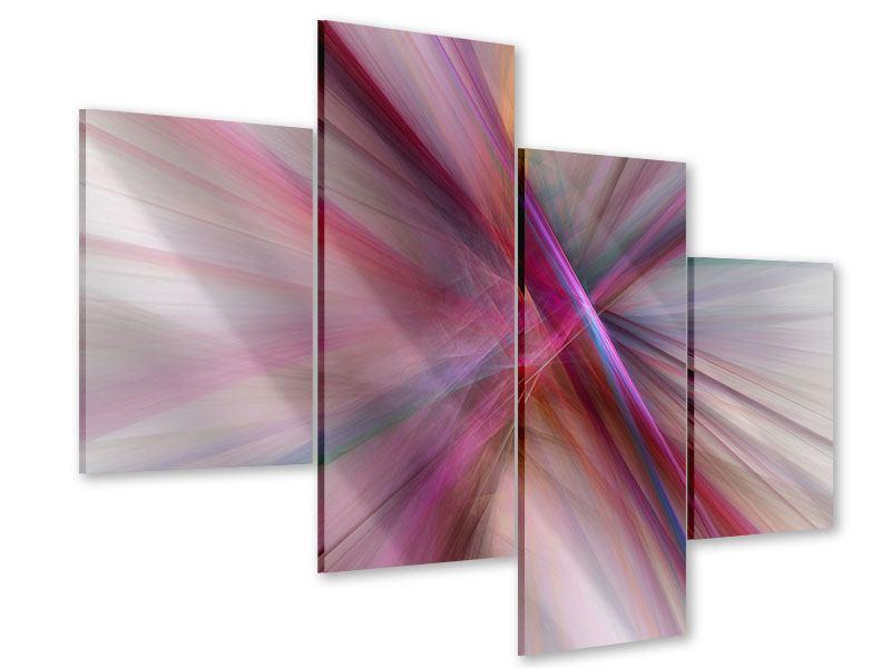 Acrylglasbild 4-teilig modern Abstraktes Lichterleuchten