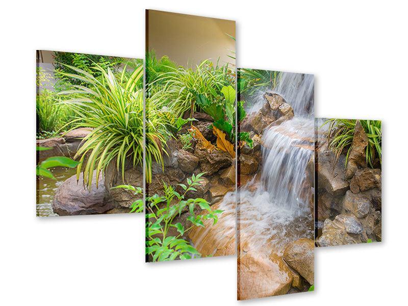 Acrylglasbild 4-teilig modern Paradiesgarten
