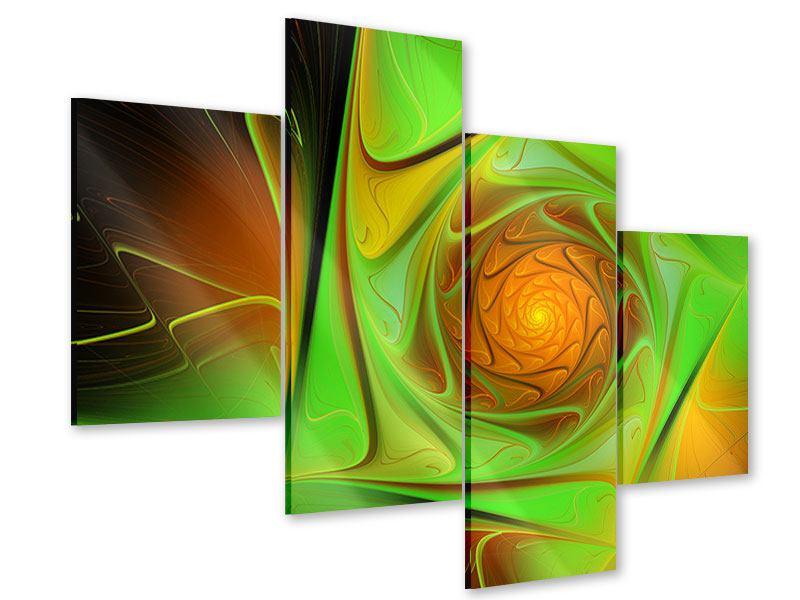 Acrylglasbild 4-teilig modern Abstraktionen