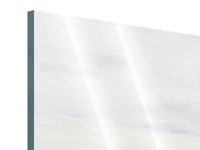 Acrylglasbild 4-teilig modern Leise Wellen