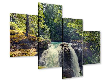 Acrylglasbild 4-teilig modern Flussströmung